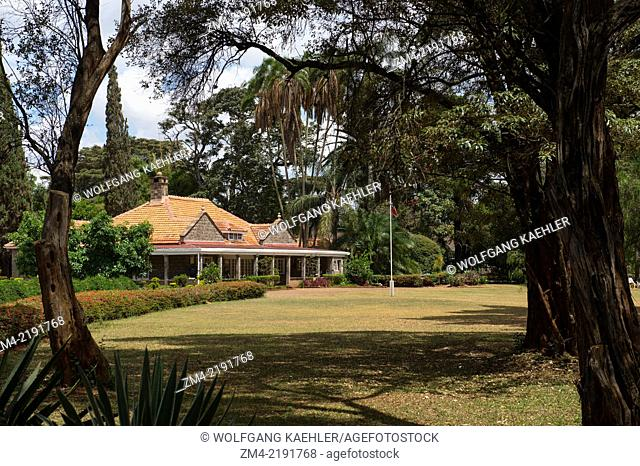 View of the Karen Blixen Museum near Nairobi in Kenya, which was once a farm at the foot of the Ngong Hills owned by Danish Author Karen and her Swedish Husband