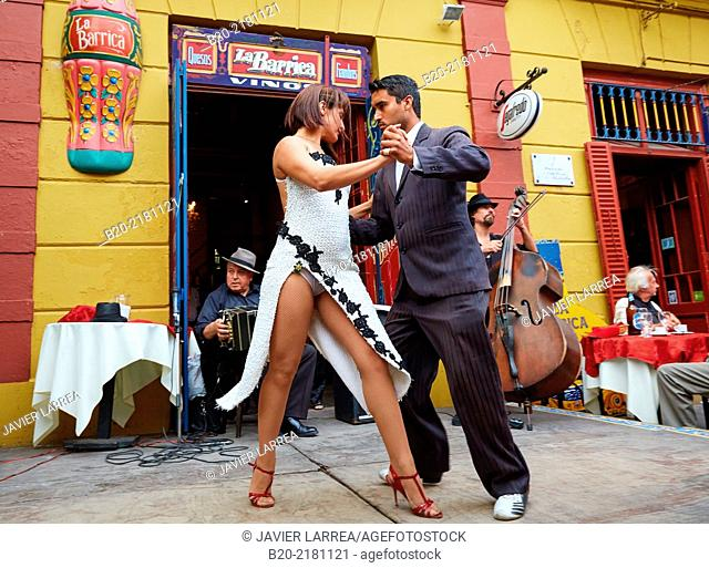 Tango. Caminito street. La Boca. Buenos Aires. Argentina