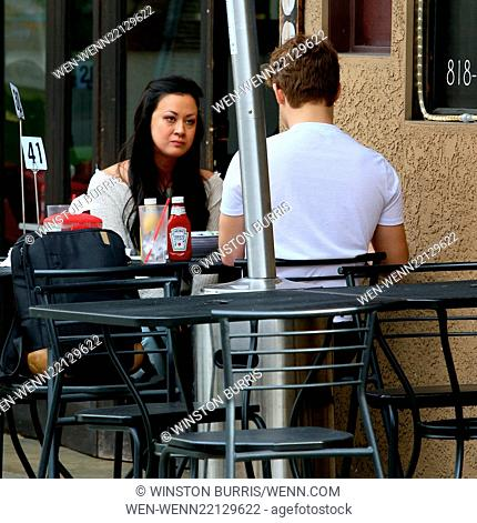 Garrett Clayton and Jade Moser have lunch at Crave Café in Studio City Featuring: Jade Moser, Garrett Clayton Where: Los Angeles, California