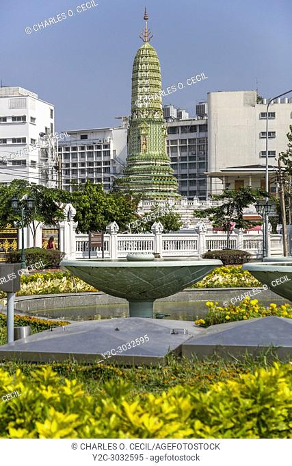 Bangkok, Thailand. Prang of the Wat Ratchaburana (Wat Liab) Temple, 18th. Century