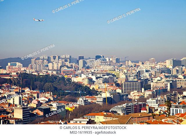 Overview of Lisbon, Portugal, Europe