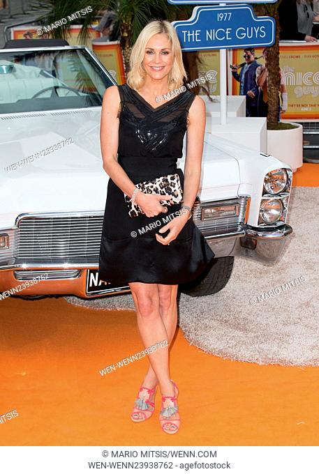 The UK Premiere of 'The Nice Guys' held at the Odeon Leicester Square - Arrivals Featuring: Jenni Falconer Where: London