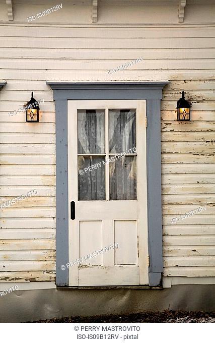 Quaint front door and building exterior
