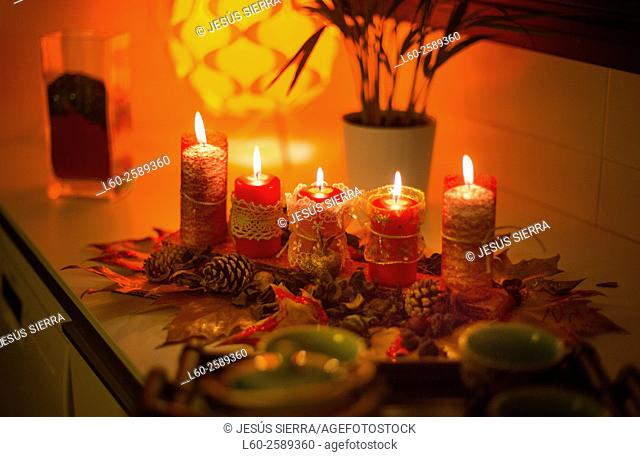 Christmas backgrounds with candles