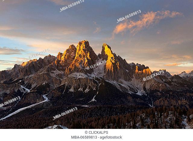 Cristallo Group, Ampezzo Dolomites, Cortina d'Ampezzo, Belluno, Veneto, Italy