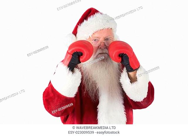 Santa Claus is ready to fight
