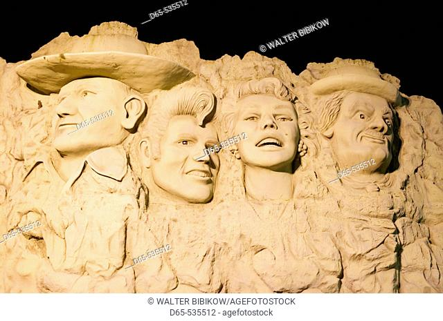 Bas Reliefs of Celebrities at the Hollywood Wax Museum, Branson: Country Music Mecca of the Midwest. Missouri, USA