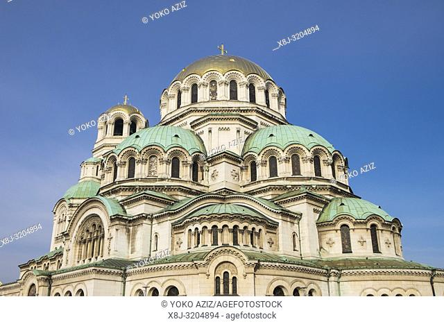 Bulgaria, Sofia, Cathedral church Alexander Nevski in the center of the Bulgarian capital Sofia