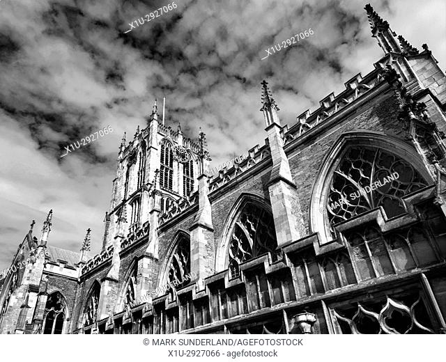 Hull Minster in the Old Town Hull Yorkshire England