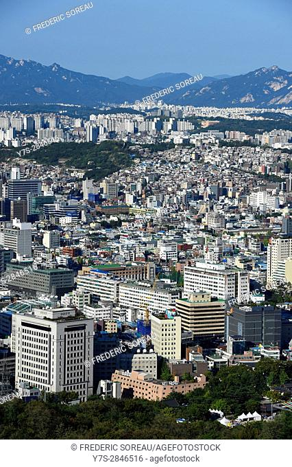 Aerial view of Seoul,South Korea