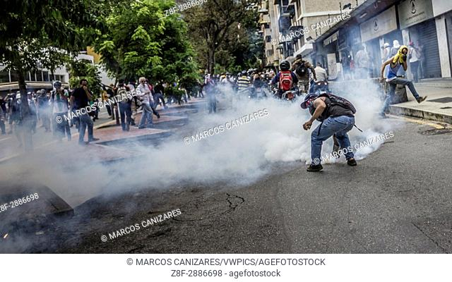 Caracas, Venezuela, Wednesday, May 3, 2017. Driving the latest outrage is a decree by Venezuelan President Nicolas Maduro to begin the process of rewriting...