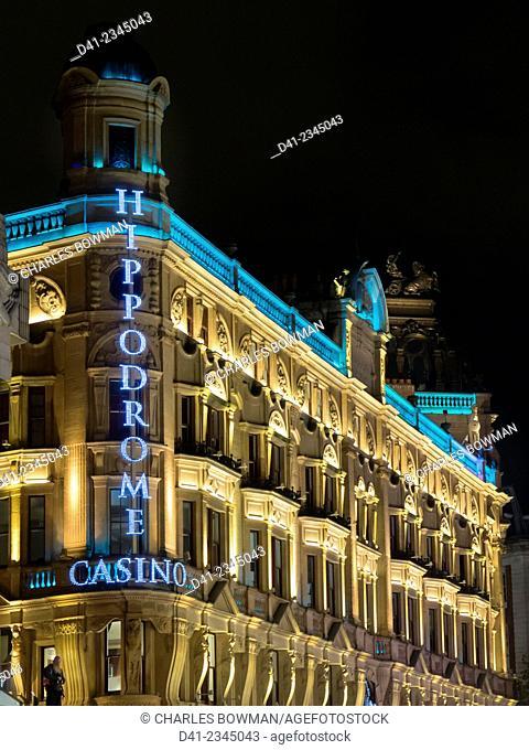europe, UK, England, London, Leicester Square Hippodrome night