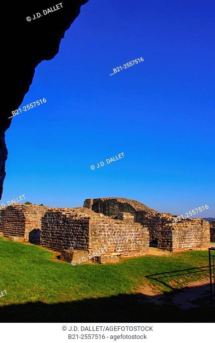 "France-Pays de la Loire-Mayenne- romain huge fortress, at Jublains, ( called """"Noviodunum""""during the antiquity)"