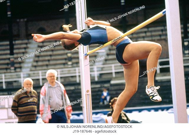 Women's high jump. Sweden