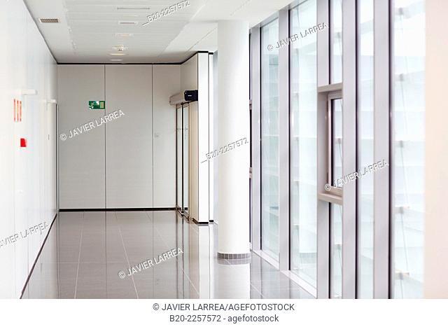 Corridor. Onkologikoa Hospital. Donostia, San Sebastian. Gipuzkoa. Basque Country. Spain