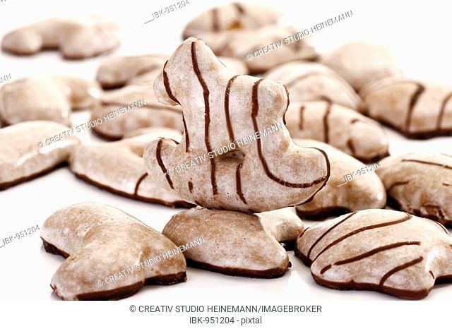 Sugar glazed gingerbread biscuits