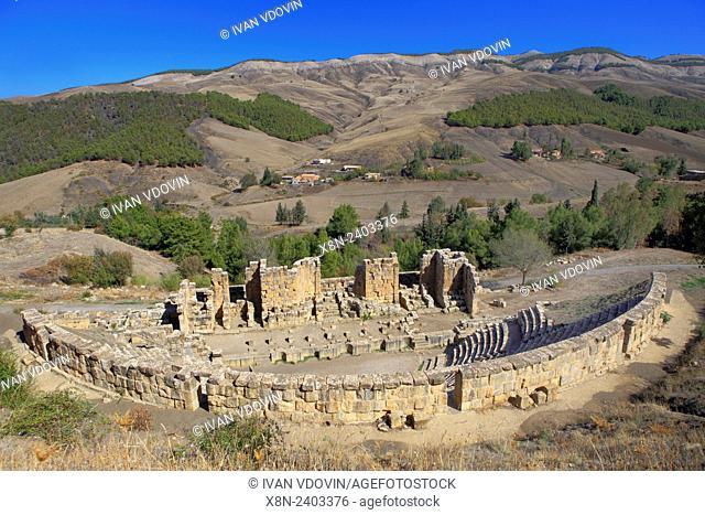 Roman Theater, Ruins of ancient city Cuicul, Djemila, Setif Province, Algeria