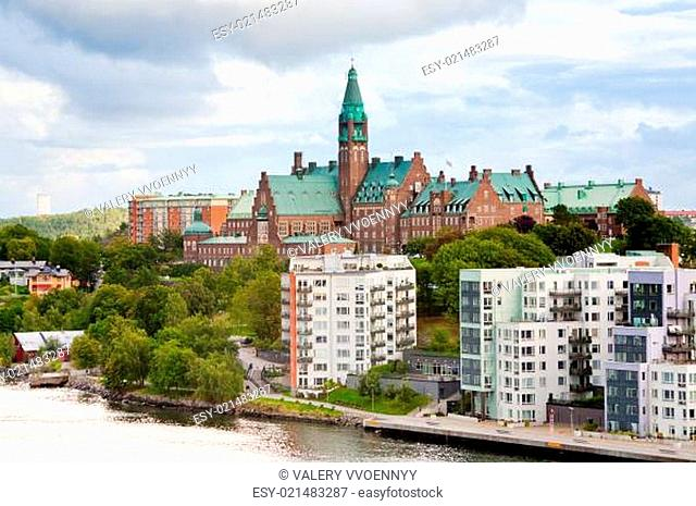 municipal houses and hospital in Stockholm