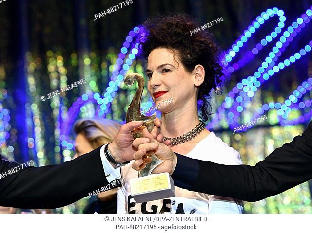German actress and award winner Bibiana Beglau seen at theItalian film ball 'Notte delle Stelle' held during the 67th International Berlin Film Festival