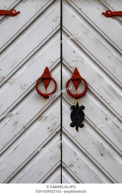 Old metal door knob in Tallinn
