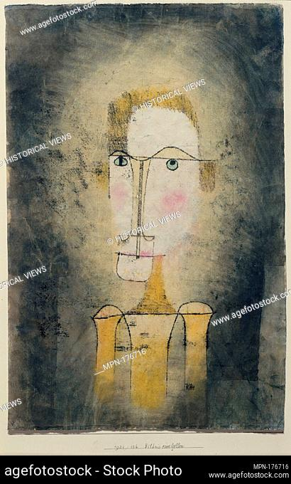 Portrait of a Yellow Man. Artist: Paul Klee (German (born Switzerland), Münchenbuchsee 1879-1940 Muralto-Locarno); Date: 1921; Medium: Watercolor