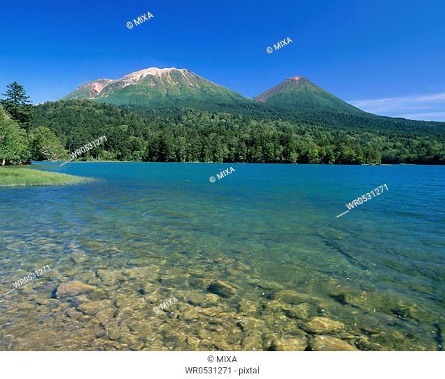 Mount Akan-fuji, Mount Meakan and Lake Onneto, Ashoro, Hokkaido, Japan