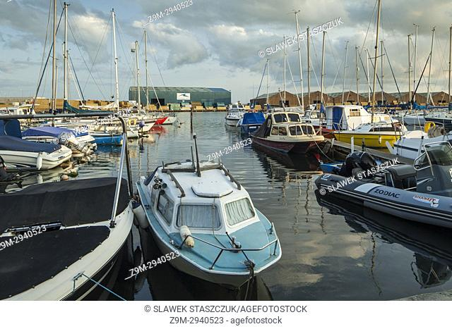 Summer afternoon at Shoreham Port in Southwick, West Sussex, England
