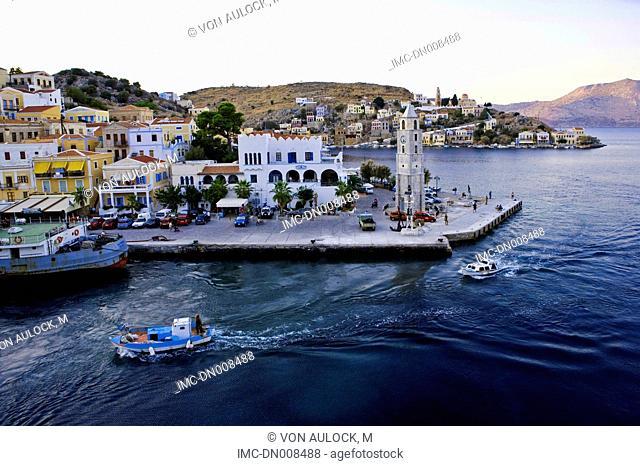 Greece, Dodecanese, island of Symi, sailing boat