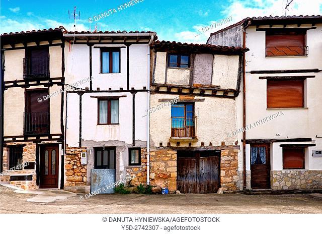 architecture of old town of Covarrubias, Ruta del Cid, Burgos province, Castilla-León, Castile and León, Castilla y Leon, Spain, Europe