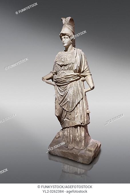 Roman statue of Athena. Marble. Perge. 2nd century AD. Inv no . Antalya Archaeology Museum; Turkey