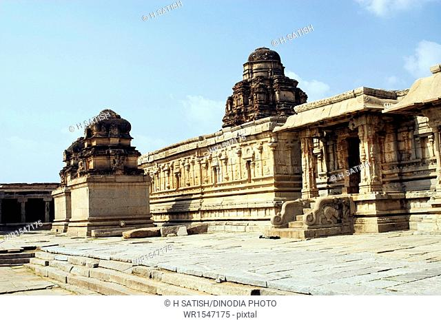 Krishna Temple in Hampi at Karnataka India Asia
