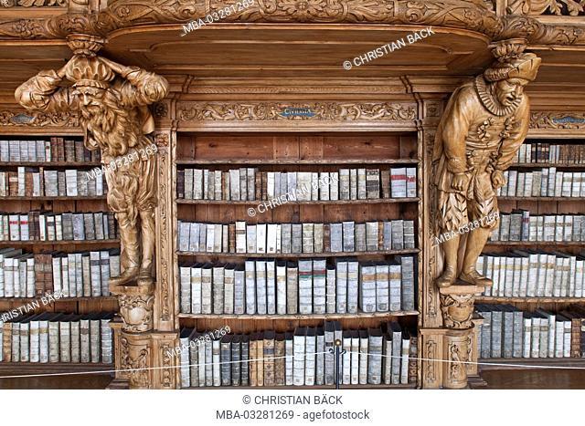 Abbey library Waldsassen, Upper Palatinate, Bavarians, Germany
