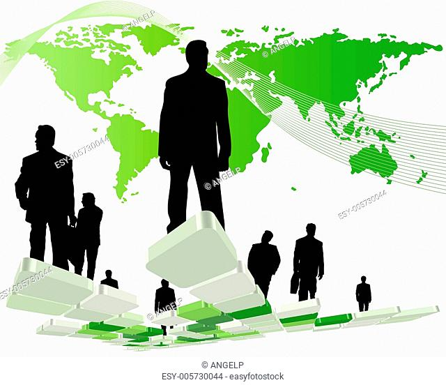 Worldwide business theme