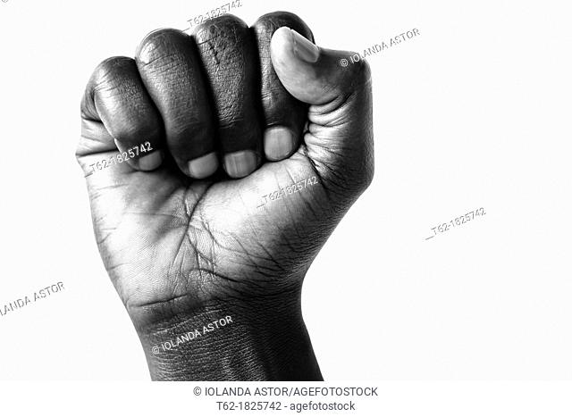 Fore fist black man