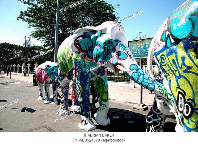 Indonesia Central Java Yogyakarta Modern elephant sculpture