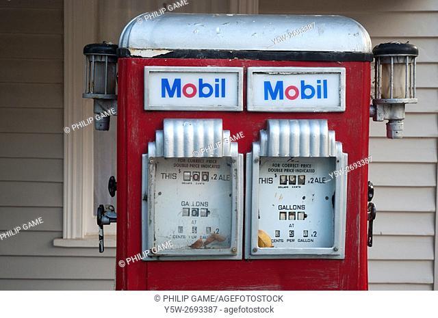 Antiquated fuel pump at Mt Macedon, outside Melbourne, Victoria, Australia