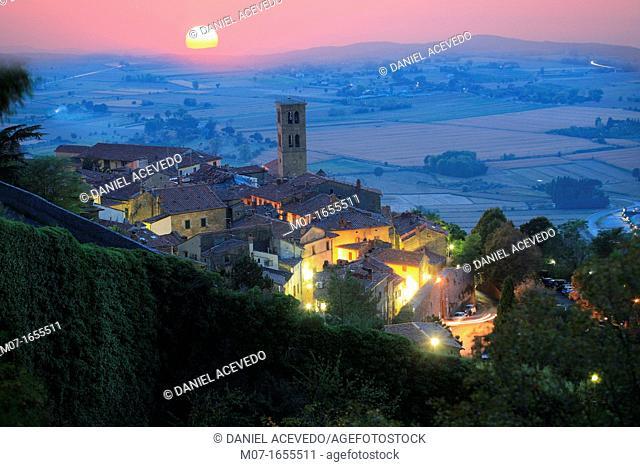 Cortona sunset, Arezzo county, Italy