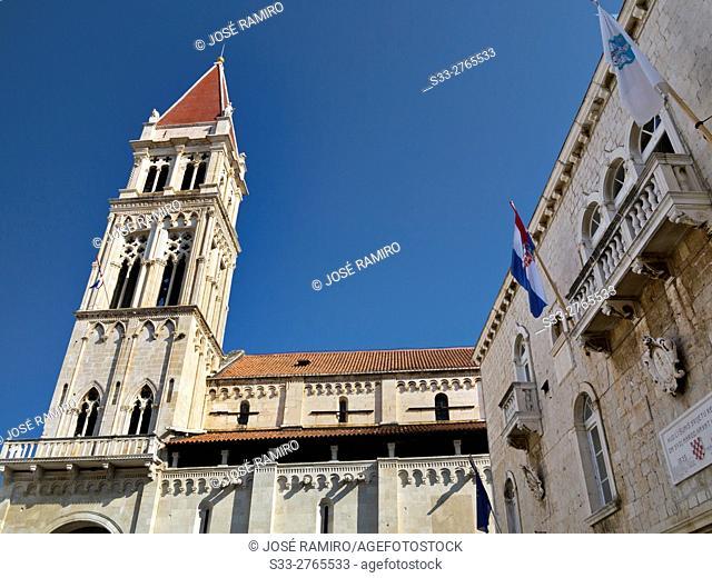 St. Lorenzo cathedral in Trogir. Croatia. Europe