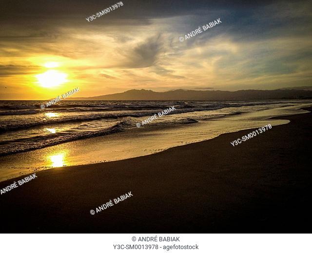 Beach sunset, Mexico