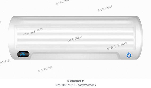 white air conditioning isolated over white background