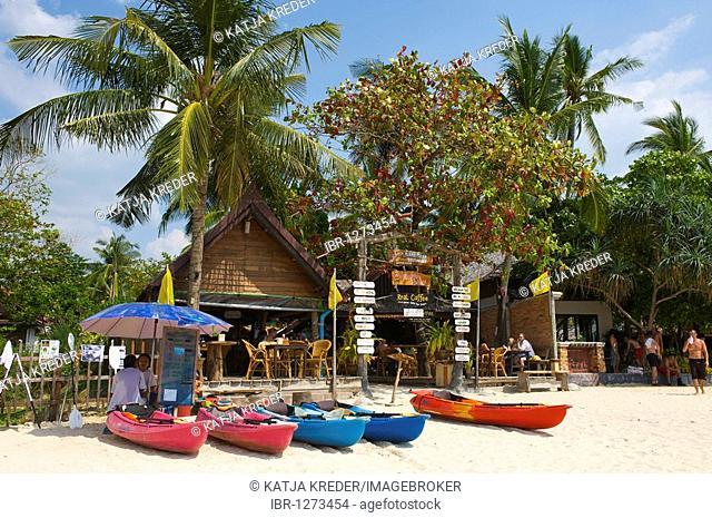 Beach bar at the Rai Leh West Beach, Krabi, Thailand, Asia