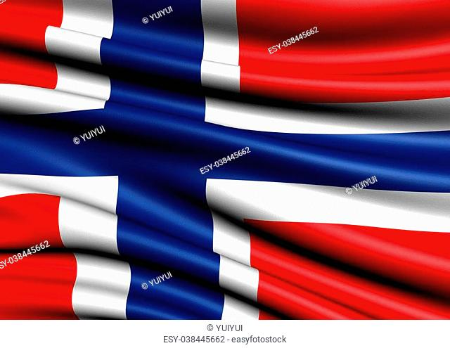 Flag of Norway. Close up