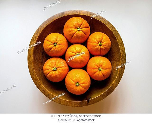 Still life. Basket with Oranges