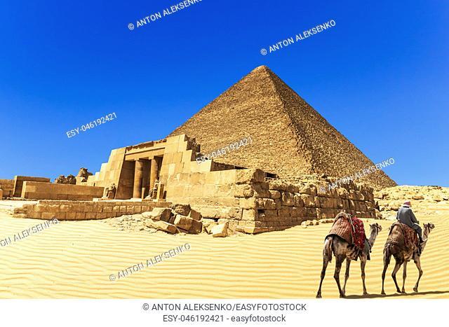The Pyramid of Cheops and the Mastaba of Seshemnefer IV, Giza, Egypt