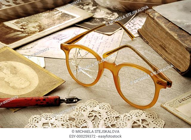 Vintage still life with glasses