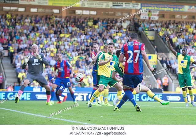 2015 Barclays Premier League Norwich v Crystal Palace Aug 8th. 08.08.2015. Norwich, England. Barclays Premier League. Norwich City versus Crystal Palace