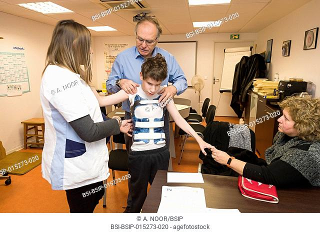 Reportage in the Rossetti Centre in Nice, France, during Professor Griffet?s monthly consultations. He is an orthopedic surgeon from Grenoble Hospital