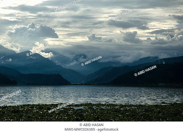 Cloudy Phewa Lake