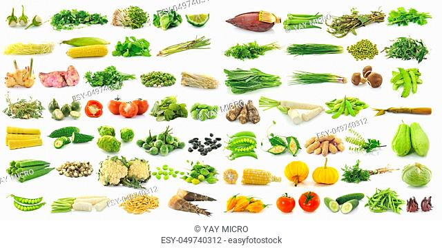 fresh vegetable isolated on a white background