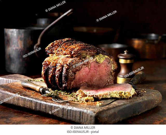 Beef with Horseradish Butter